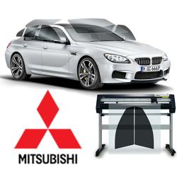 Kit POSTERIORE Pellicole Oscuramento Vetri Pre-tagliate su Misura per tutte le MITSUBISHI